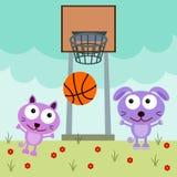 Animal basketball Stock Image