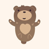 Animal bear flat icon elements, eps10. Vector illustration file Royalty Free Stock Image