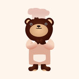 Animal bear flat icon elements, eps10. Vector illustration file Royalty Free Stock Photos