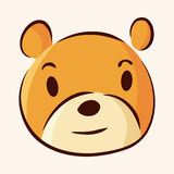 Animal bear flat icon elements, eps10 Stock Photos