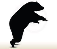 Animal bear silhouette on white background Royalty Free Stock Photos