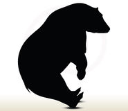 Animal bear silhouette on white background Stock Photo