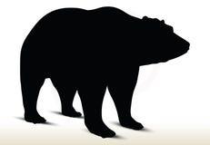 Animal bear silhouette on white background Royalty Free Stock Photo