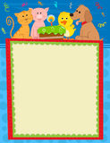 Animal Birthday Sign Royalty Free Stock Images