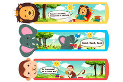 Animal Bookmarks. A vector illustration of animal themed bookmarks Stock Image