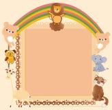Animal border Stock Images