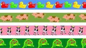 Animal borders Royalty Free Stock Image