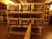 Animal Cages Inside Noah`s Ark Replica at the Ark Encounter