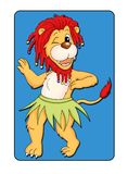 Animal card 1 - lion Royalty Free Stock Photography