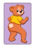Animal card 4 - bear Royalty Free Stock Images