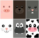 Animal Cards Stock Images
