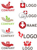Animal care logo. Set of isolated elements for animal care logos Royalty Free Stock Photography