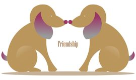 Animal Care, Love and friendship royalty free illustration