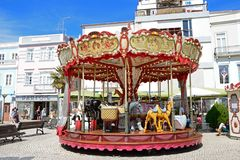 Animal carousel, Lagos, Portugal. Royalty Free Stock Photos