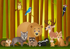 Animal cartoon Stock Photography