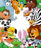 Animal cartoon background Royalty Free Stock Photo