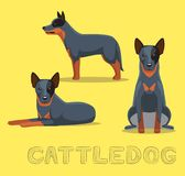 Dog Cattledog Cartoon Vector Illustration Royalty Free Stock Image