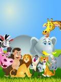 Animal cartoon group Stock Image
