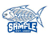 Fish bones cartoon mascot in  illustration. Animal cartoon mascot in  illustration Stock Photography