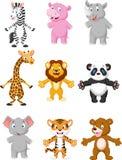 Animal cartoon posing Royalty Free Stock Photo