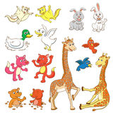 Animal cartoon set. Royalty Free Stock Images