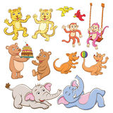 Animal cartoon set. Royalty Free Stock Photo
