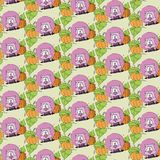 Animal cartoony wallpaper Royalty Free Stock Photo