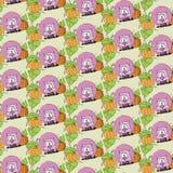 Animal cartoony wallpaper Royalty Free Stock Photo