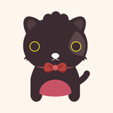 Animal cat flat icon elements, eps10 Royalty Free Stock Images