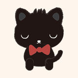 Animal cat flat icon elements, eps10 Royalty Free Stock Photo