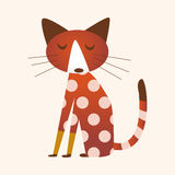 Animal cat flat icon elements, eps10 Stock Images