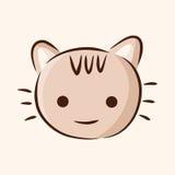 Animal cat flat icon elements, eps10. Vector illustration file Royalty Free Stock Photo