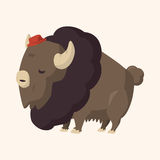 Animal cattle flat icon elements, eps10. Vector illustration file Stock Photography