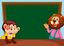 Animal on chalkboard template. Illustration stock illustration