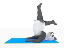 Animal character personage panda doing yoga Stock Image