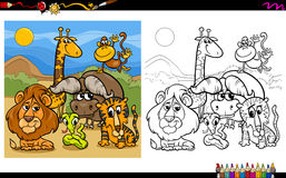 Animal characters coloring page Stock Image