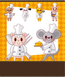 Animal chef card Royalty Free Stock Image