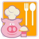 Animal Chef Restaurant Sign Royalty Free Stock Image