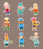 Animal chef stickers Stock Photography