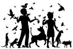 Animal children stock illustration