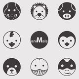 Animal Circle. Icon for decoration artwork about animal, wildlife or zoo - vector Royalty Free Stock Image