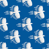 Animal clouds silhouette dove seamless pattern vector illustration abstract sky cartoon bird environment natural Stock Photo