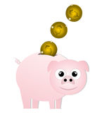 Animal coin Royalty Free Stock Image