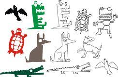 Animal collection Royalty Free Stock Images