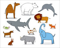 Animal collection 1 Royalty Free Stock Image