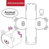 Animal collection vector Illustration of Box. royalty free illustration