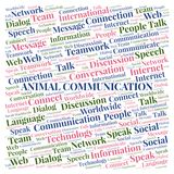Animal Communication word cloud. Wordcloud made with text only royalty free stock photography