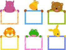 Animal con la bandera stock de ilustración