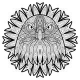 Animal concept. Line design. The head of a eagle. Royalty Free Stock Image