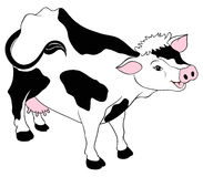 Animal couple. A illustration of happy healthy cow Royalty Free Stock Photography